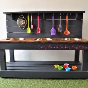 3 bowl mud kitchen