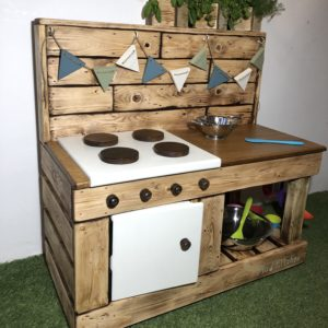 Rustic Midi Mud Kitchen Oven