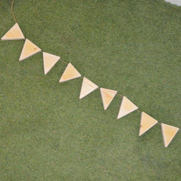 mud kitchen wooden bunting